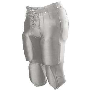 Alleson Youth Nylon/Spandex Football Pants SI   SILVER YM