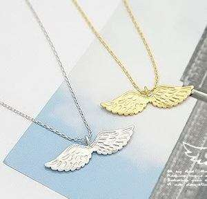 Ancient Bronze Angel Style Fly Wing Necklace n294