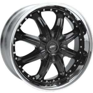 JR Hustler 24x8.5 Black Wheel / Rim 5x4.5 & 5x4.75 with a 40mm Offset