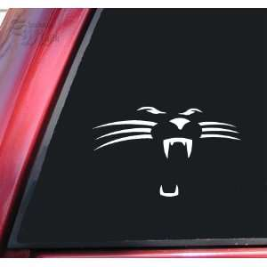 Carolina Panthers Face #1 Vinyl Decal Sticker   White