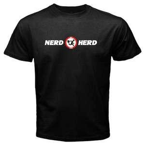 Nerd Herd Geek Tech Support Buy More Chuck Mens Black T shirt Size M