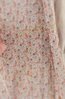 VINTAGE 20s Sheer Cotton FLORAL PRINT Novelty Drop Waist Day Art Deco