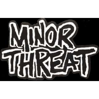 Minor Threat   Black & White Logo   Large Jumbo Vinyl Sticker / Decal