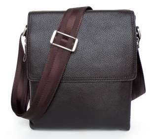 Coffee Great Cow Leather Mens Business Shoulder Messenger Briefcase