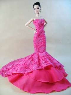 Eaki Model Pink Clothes Dress Outfit Gown Candi Silkstone Barbie