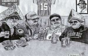 Da Super Fans poster SNL Chris Farley  Packers version