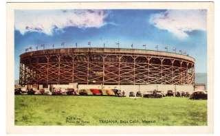 1940s postcard Bull Ring, Plaza de Toros, Tijuana, Mex