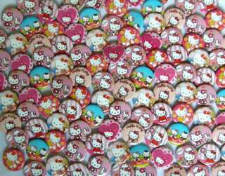 New Hello Kitty badge pin 102 pcs dia 2.5cm Random