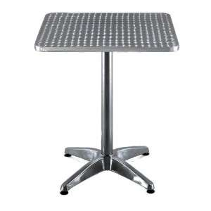 Square Lifetime Aluminum Table Top With Base for Dining, Restaurant