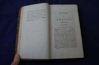 1812 OLIVER GOLDSMITH, HISTORY of GREECE, 2 VOL SET, CONTEMPORARY CALF
