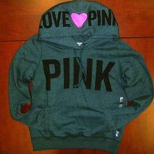 Secret LOVE PINK HEART HOOD 0854 PULLOVER HOODIE Sweatshirt VICTORIAS