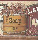 OLD FASHION LAUNDRY ROOM WALL BORDER JN1788B items in All 4 Walls