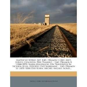 Angelo. Agnes (German Edition) (9781276877268) Friedrich Hebbel