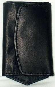 BLACK Leather MULTI KEY HOLDER/WALLET New 1312 036982113124