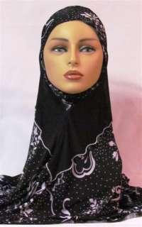 Piece Amira Black/White Print hijab hijabs abaya jilbab scarf