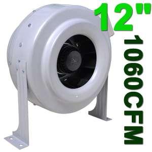 12 INCH HYDROPONIC INLINE EXHAUST FAN BLOWER 1060 CFM