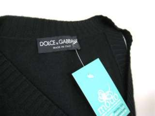 DOLCE & GABBANA Womens Black Sleeveless Cashmere Silk Blend Sweater sz