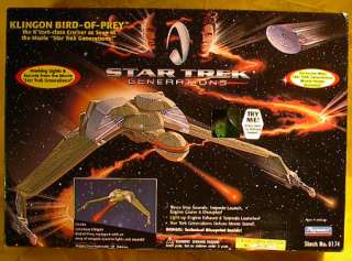 Star Trek KLINGON BIRD of PREY Ship Playmates MIB (110905)