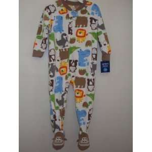 Carters Microfleece Jungle Animals Footed Sleeper Pajamas (5T): Baby