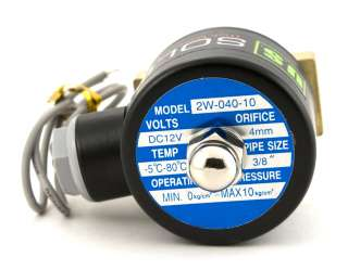 Electric Solenoid Valve 12 Volt Air, Gas,Fuel Normally Closed