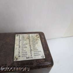 WWII GERMAN FIELD PHONE CRANK & BAKELITE CASE DATED 1937