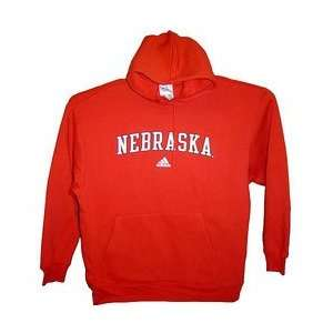 Nebraska Cornhuskers Official Iron Man NCAA Hoody by Adidas (Large