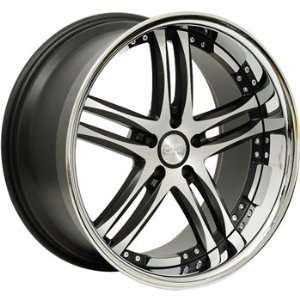 Concept One 743 RS 55 Matte Black Wheel with Machined Lip Finish (20x8