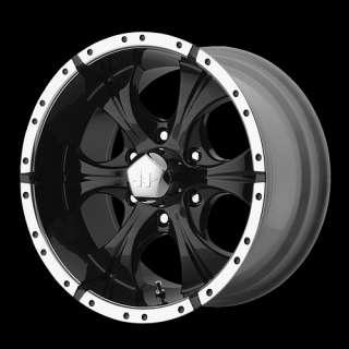 16 x8 Helo HE791 (Maxx) Black Wheels Rims 5 6 8 Lug
