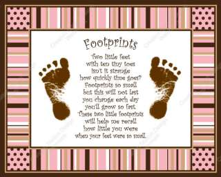 Create a cherished keepsake of your babys footprints. This print can