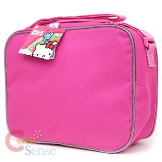 Hello Kitty School Lunch Bag / Insulated Snack Box Pink Bows