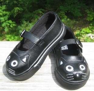 TUK Girls Black Leather KITTY MARY JANE Sneakers BTS