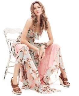 HOT ! H&M HM Bohemian Maxi FLORAL Long Chiffon Gisele Dress