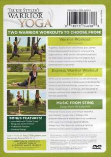 TRUDIE STYLERS WARRIOR YOGA DVD WITH JAMES DSILVA NEW