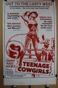 1973 TEENAGE COWGIRLS Orig 27 x 41 Movie Poster JOHN HOLMES AMANDA