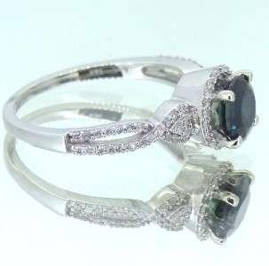 55 ct Genuine Round Cut Diamond Sapphire Engagement Ring Band 14k