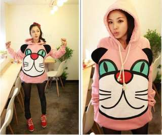 New Korean Super Cute Big cat face Hoodie Tops #110