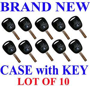 LOT OF 10 LEXUS REMOTE KEY FOB CASE SHELL NEW