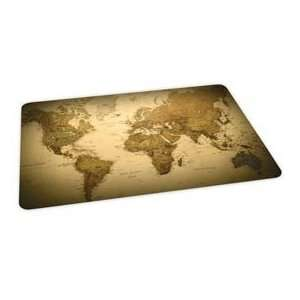 World Map Design Hard Floor Chairmat 36 X 48 Rectangle