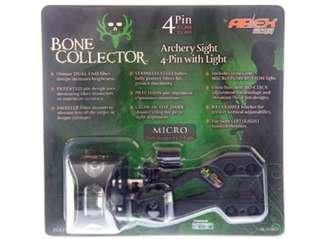TRUGLO APEX BONE COLLECTOR 4 PIN BOW SIGHT NEW 788130012550 |