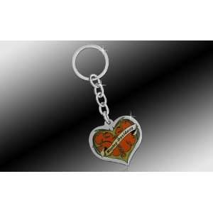 SUV Key Chain Metal   Red Heart w/ Harley Davidson Script Automotive