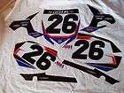 YAMAHA YZ450F YZ 450 F AMA NUMBER PLATE BACKGROUND SET # 26 MICHAEL