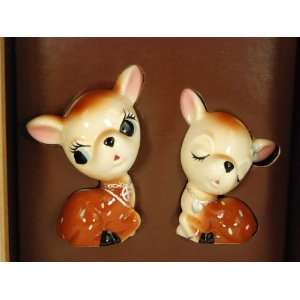 Lucky Brand Jeans Deer Salt and Pepper Shakers: Kitchen