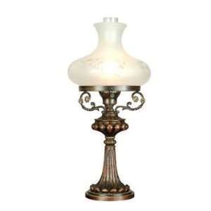 Dale Tiffany Bisset Table Lamp in Antique Bronze Finish