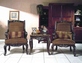 Traditional Solid Wood Coral Color Sofa Loveseat 2 Pc Living Room Set