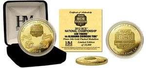 Alabama Crimson Tide 2012 BCS Championship Game Logo Gold Coin