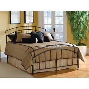 Beautiful Queen Metal Bed with Wood Sprung Bed Frame #AD