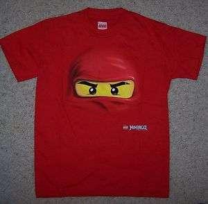 Lego Ninjago T Shirt Kai 4 5 6 7 8 10 12 14 16 matches sets 2254 2258