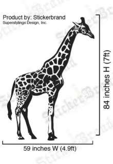 Vinyl Wall Decal Sticker 7ft Tall BIG Giraffe 84x59
