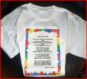 To My Autistic Child Poem T shirt PERSONALIZED Autism
