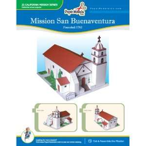 San Buenaventura 10 x 13 Paper Model (California Missions) Books
